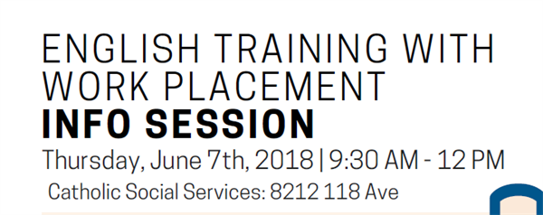 English Training with Work Placement Programs info session
