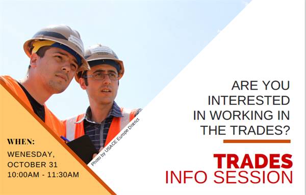 Getting into the Trades info session